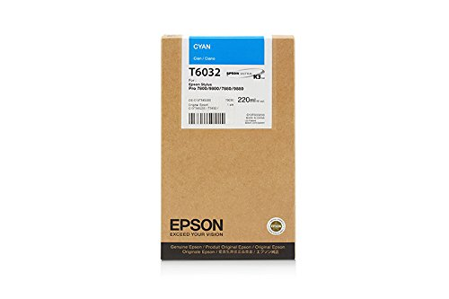 Epson Stylus Pro 9800 Xrite Eye One - Original Epson / C13T603200 / T6032 / Stylus Pro7800 / Tinte Cyan - 220 ml -