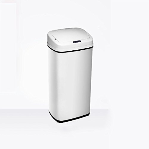 LYL Smart Induction Business Hotel Lobby Bureau Cuisine Acier inoxydable Trash Creative Home Continental Oversized Code (Couleur : Blanc, taille : 33 * 25 * 84cm(50L))