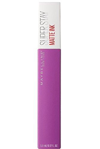 Maybelline Super Stay Matte Ink Lippenstift Nr. 35 Creator, farbintensiver Lippenstift für bis zu 16 Stunden Halt und angesagtem Matt-Finish, in matten Trendfarben, 5 ml (Violett Maybelline Lippenstift)