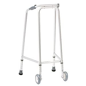 NRS Ultra Narrow Walking Frame (Wheeled) Adjustable Height