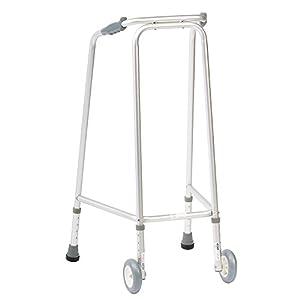 NRS Healthcare ultra schmales Gehgestell (ohne Räder), verstellbare Höhe