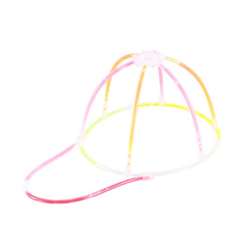 Toyvian Leucht- Kappe DIY Knicklichter Kappe glühende Kappe Party Hut für Halloween Karnevals Kostüm Zubehor