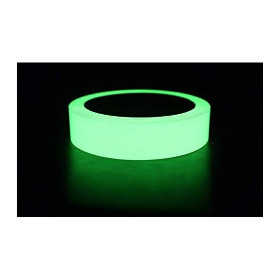 Bapna Monica Glow In Dark Tape with small Stickers, 25 mm Width x 30 ft Length