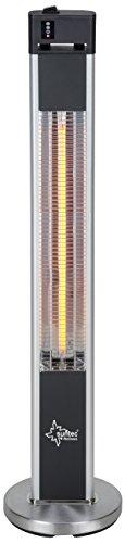SUNTEC Carbon-Terrassenheizstrahler Heat Patio 2000 Carbon [Für Balkon/Terrasse/Garten, 3 Heizstufen, Fernbedienung, max. 2000 W]
