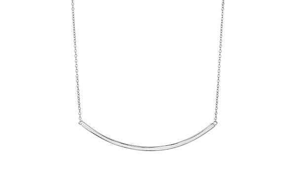 925 Sterling Silver Adjustable Side-ways Horseshoe Necklace Lobster Lock 18 Inch