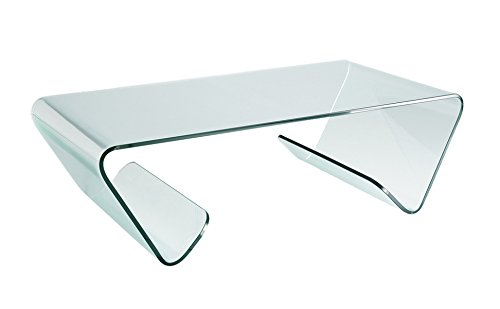 designement Table Basse Verre Transparent 120 x 65 x 30 cm