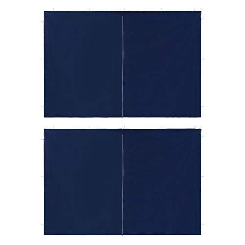 vidaxl 2x parete per tendostruttura in pe con cerniera blu pannello gazebo