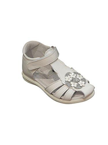 Pretti Shoes Sandalo gabbietta con Fiorellini Bianco, 22 MainApps