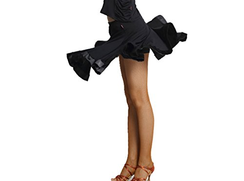 Dance short skirts Practice performing skirts Latin skirts Cha Cha skirts Ballroom skirt Black
