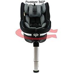 Siège auto isofix et pivotant 360° Grp 0+/1 (0à18kg) - Dos à la route jusqu'à 18Kg-Protections latérales - Barre anti rebond