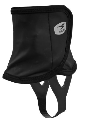 Sugoi Resistor - Fascia Impermeabile per Caviglie, per Scarpe da Corsa, Uomo, Taglia Unica, Colore: Nero