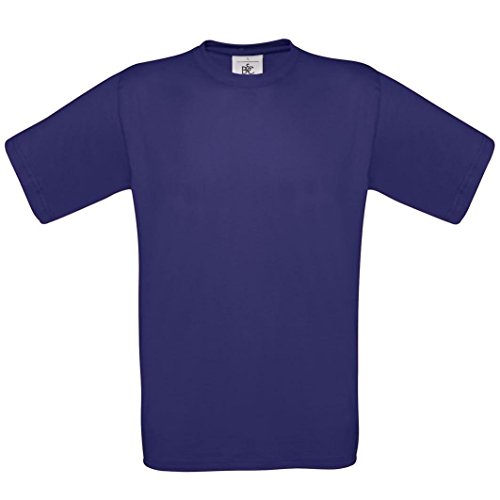 B & C Collection, Exact 190, BA190, T-Shirt Violett - Indigo