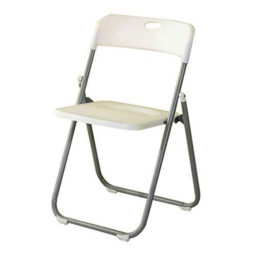 Tabouret - Chaise Pliante, dînette de ménage, Chaise de Formation de Bureau/Chaise de Bain/Chaise de réunion (Couleur : Blanc)