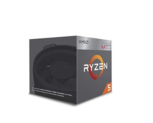 AMD Ryzen 5 2400G Desktop Processor of 4 Core with speed upto 3.9GHz and AM4 Socket Radeon RX Vega 11 Graphics (YD2400C5FBBOX)