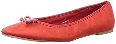 Marks & Spencer Women's Red Ballet Flats-3 UK (36 EU) (T02/5774A)