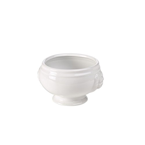 genware-nev-lh1-w-lion-head-soup-bowl-11-cm-14-oz-white-pack-of-6
