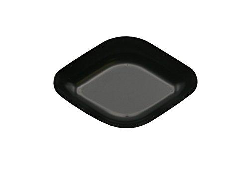Heathrow Scientific HD1427B Wägeschälchen, Rautenförmig, Polystyrene, 78 mm Länge x 56 mm Breite x 14 mm Tiefe, Schwarz (500-er Pack)