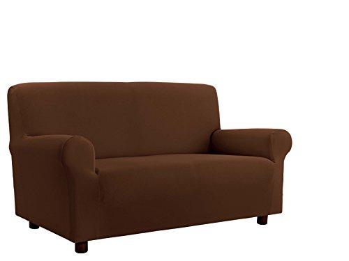 Italian bed linen cdpbmarrone4p copridivano, 96% poliestere/ 4% elastometro, marrone, 4 posti, 220-270 cm,
