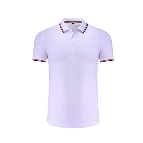 ZKOO Revers Poloshirt Herren Kurzarm T-Shirt Polohemd Sommer Baumwolle Basic Polo Shirt T Shirt Tops
