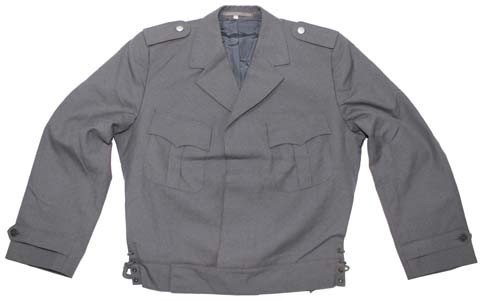 BW Uniformjacke, grau, Gebirgsjäger, gebr.