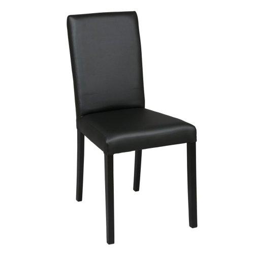 PEGANE Chaise en hêtre noir, Dim L490 x l440 x H950 mm