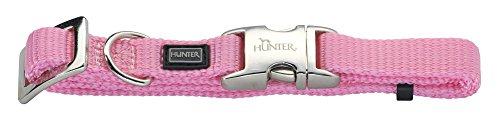 Hunter Hundehalsung Vario-Basic ALU-Strong S, Nylon, rosa