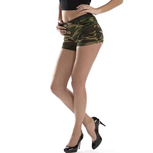 Kostüm Afrika Look - Krause & Sohn Damen Hotpants Camouflage