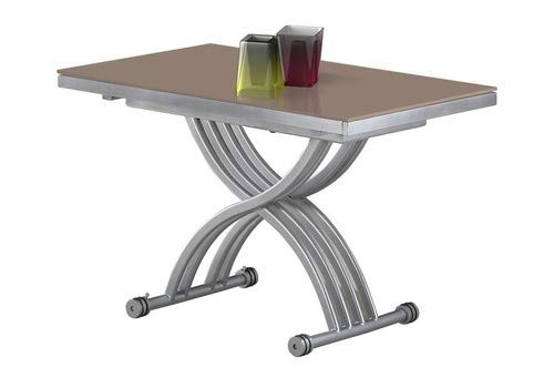 giovanni marchesi design Table Basse RELEVABLE Zen Verre Cappuccino