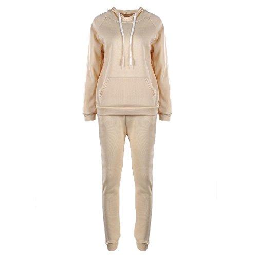 Ecotrumpuk Hose, Damen-Trainingsanzug, 2-teilig, Winter, warm, Pullover L beige