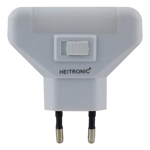 Heitronic 47169 A, Steckdosenleuchte, Kunststoff, 1 W, weiß, 5,7 x 7 x 1,5 cm