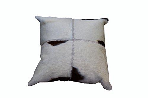 Zerimar Leder Reversible Kissen Maßnahmen: 40 x 40 cms Ideal für Dekoration (Reversible Leder)