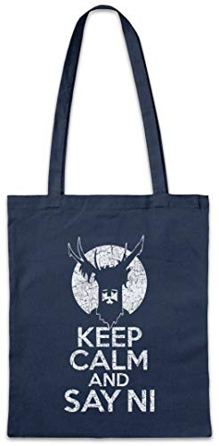 Urban Backwoods Keep Calm and Say NI Hipster Bag Beutel Stofftasche Einkaufstasche -