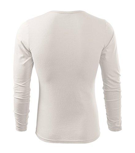 Herren Langarmshirt 100% Baumwolle T-Shirt Marke Adler - Größe und Farbe wählbar - weiss