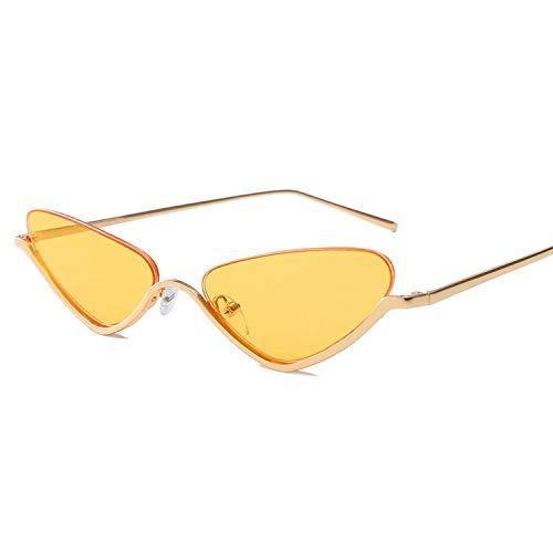 FIRM-CASE Katzenaugen-Sonnenbrille Frauen Metall Kleiner Rahmen Sonnenbrillen neue Art und Weise Brillen, 7