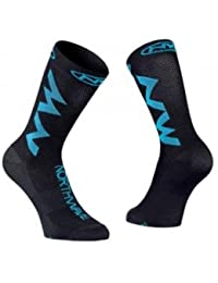 Calcetines NORTHWAVE Extreme Air Negro-Azul - Talla: M (40-43)