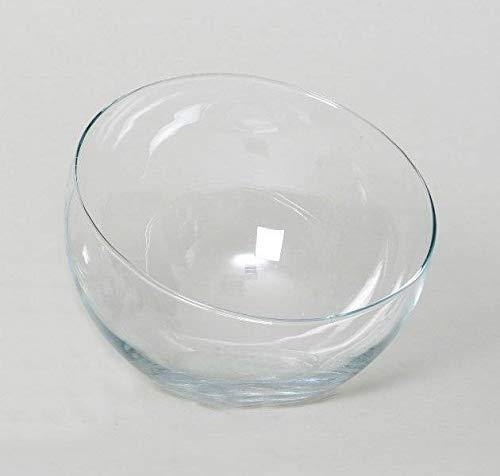 INNA-Glas Schräge Kugelvase Nelly aus Glas, transparent, 18cm, Ø 16,5cm - Kugelvase Glas - Windlichthalter