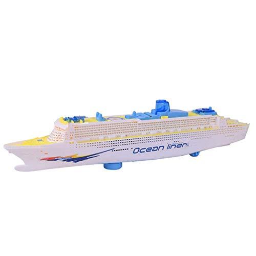 szseven Kinder Elektroboot Kinder Blinklicht Simulation Schiffsmodell Musik Spielzeug Kunststoff Boote Badespielzeug für Mädchen und Jungen, Kleinkinder Baby -