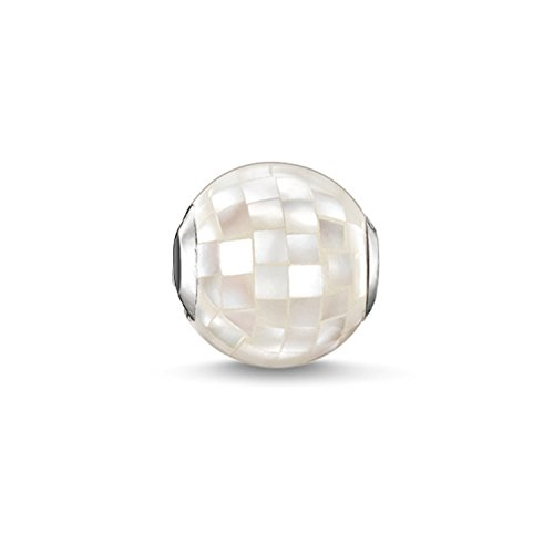Thomas Sabo Damen-Bead Karma Beads 925 Sterling Silber Perlmutt weiß K0129-029-14