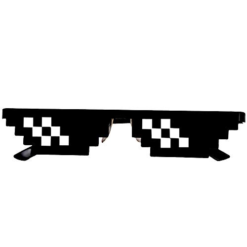 Amcool Unisex Thug Life Brille 8 Bit Pixel Deal mit IT Sonnenbrille Spielzeug (B)