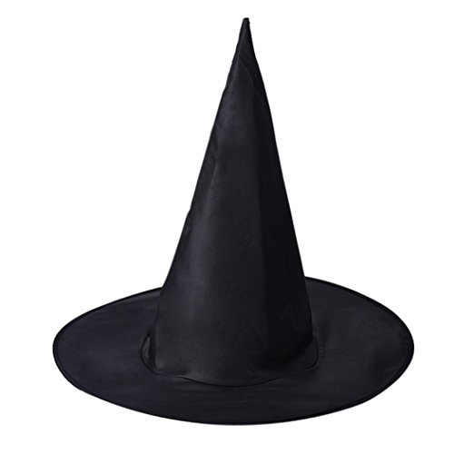 Hexe-Hut-Halloween-Hut 1Pcs Erwachsener Frauen Schwarzer Hexe-Hut für Halloween-Kostüm-Zusatz Harry Potter-Hut Reine schwarze Spitze-Hut (Frauen Schwarze Halloween-kostüme)