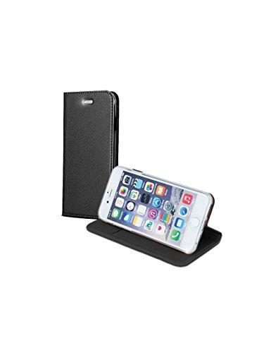 """BOOK CASE SMART PREMIUM Für Apple iPhone 7 4,7"""" Apple iPhone 7 Cover Handy Tasche Flipcase Etui Buchform Kunststoff TPU Halterung für Kreditkarten (Dunkel Blau / Navy Blue) Schwarz / Black"""