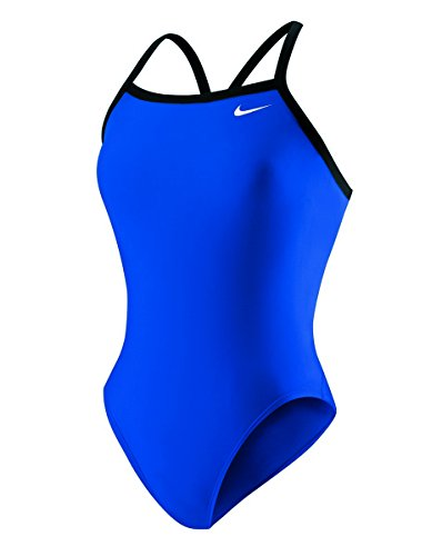 Nike Womens One Piece Solid Athletic Competitive Swim Suit Game Royal