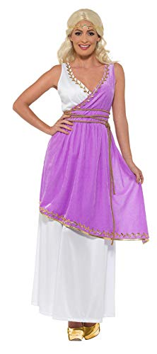 Smiffys SMIFFY 'S 47469M Grecian Göttin Kostüm, Damen, Weiß und Violett, m-uk Größe 12-14