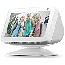 Echo Show 5, Blanco + Soporte regulable, Blanco