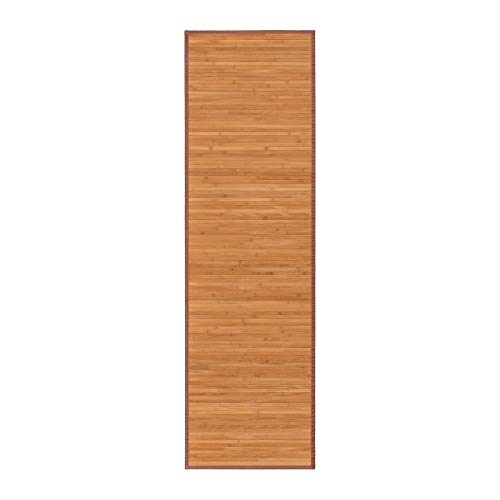 Alfombra pasillera Oriental marrón de bambú de 60 x 200 cm Sol Naciente - LOLAhome