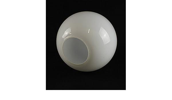 Vetro di ricambio boccia sfera in opalina per lampada da parete