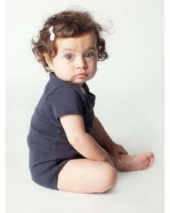 Infant Baby Rib Short-Sleeve One-Piece NAVY 6-12MOS (Sleeve Baby-jungen-short Tee)
