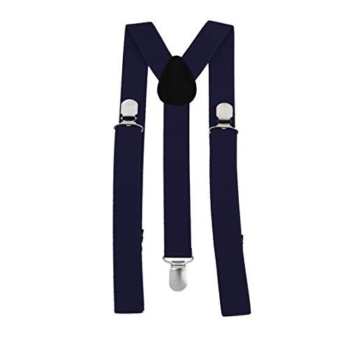 LouiseEvel215 Unisex Frauen Männer Y Form Elastische Clip-on Hosenträger Strap Hosen Hosenträger Verstellbare Hosenträger Erwachsene 3 Clip Hosenträger Gurtband