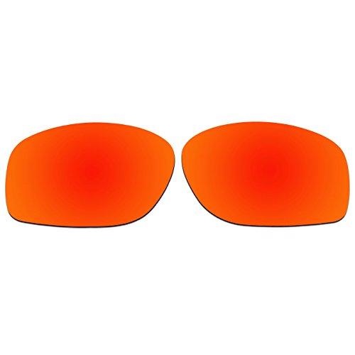 ACOMPATIBLE Ersatz-Gläser für Oakley Sonnenbrille 8oo4107, Fire Red Mirror - Polarized