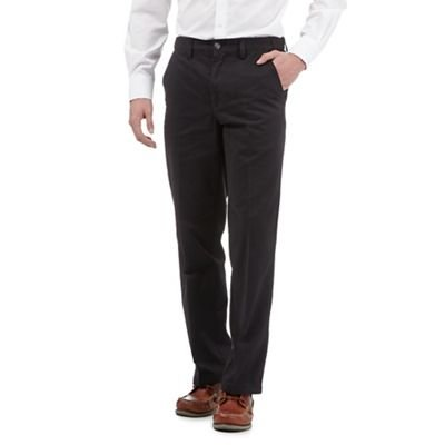 Maine New England Men Black Regular Fit Chino Trousers